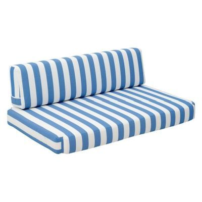 Bilander Outdoor Fabric Sofa in Blue and White - 703563