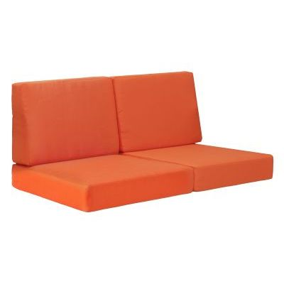 Cosmopolitan Outdoor Sofa Cushion in Orange - 703652
