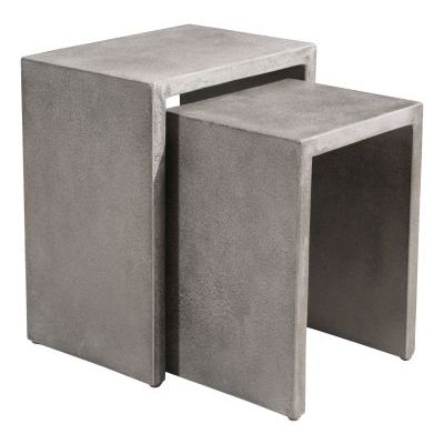 Mom Nesting Side Tables in Cement - 703758