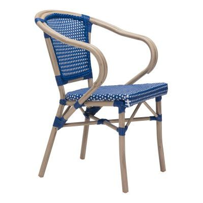 Paris Dining Arm Chair Navy Blue&White - 703801