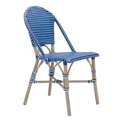 Paris Dining Chair Navy Blue&White - 703804