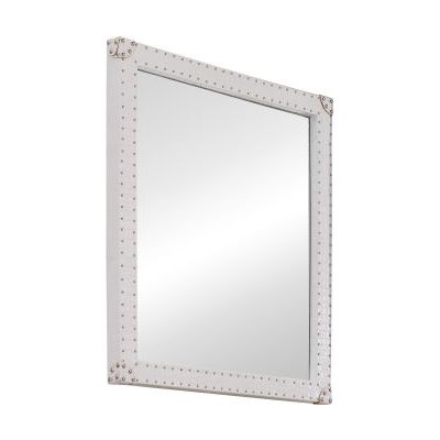 Modern Smooth Mirror in White - 850102