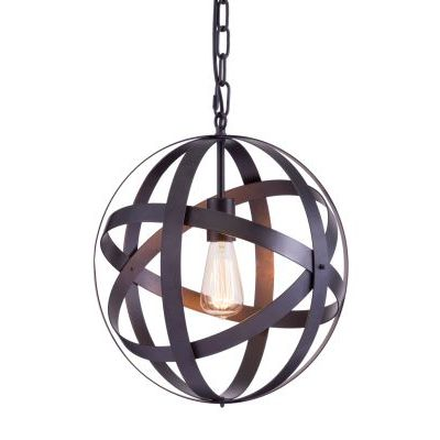 Plymouth Ceiling Lamp in Rust with Metal Finish - 98418