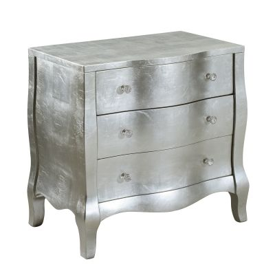 3 Drawers Chest in Starlet Silver and Patted Gold - 12042