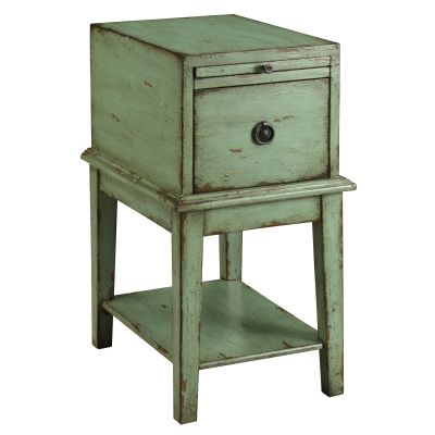 One Drawer Chest in Bayford Weathered Green - 39625