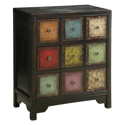 Three Drawer Chest in Conde Weathered Mulitcolor - 46211