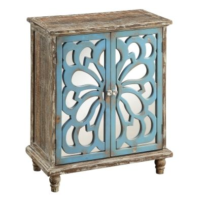 Two Door Cabinet in Delvale Brown and  Blue - 46291