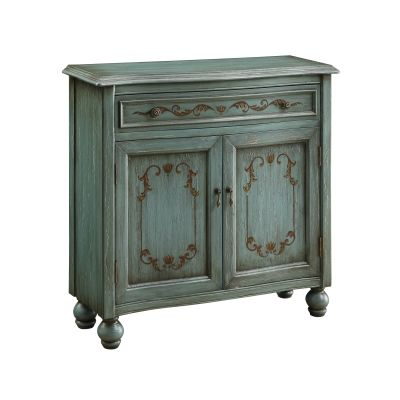 One Drawer Two Door Cabinet in Dearington Teal Blue - 46315