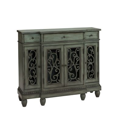 3 Drawer Four Door Credenza in Hood Grey - 61703