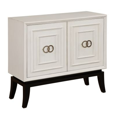 Two Door Cabinet in Astor White - 91777