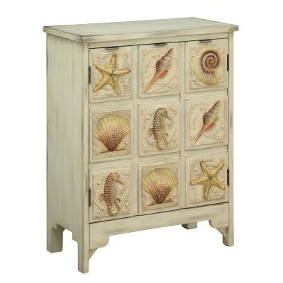 Two Door Cabinet in Distressed Sand - 91822