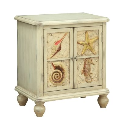 Two Door Cabinet in Shoals Distressed Sand - 91823