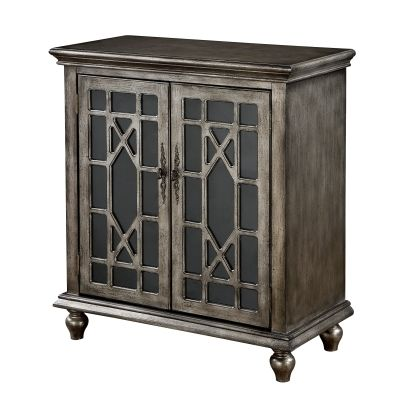 Two Door Cabinet in DeVille Texture Metallic - 91830