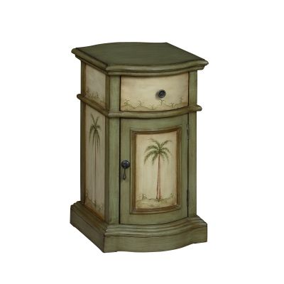 One Drawer One Door Cabinet in Largo Green and Cream - 94044