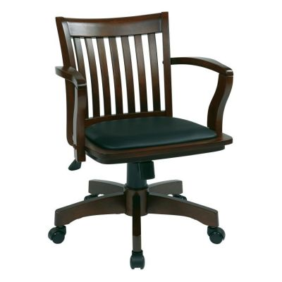 Deluxe Wood Banker's Chair in Espresso Finish - 108ES-3