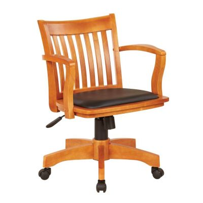 Deluxe Wood Banker's Chair in Fruitwood Black - 108FW-3