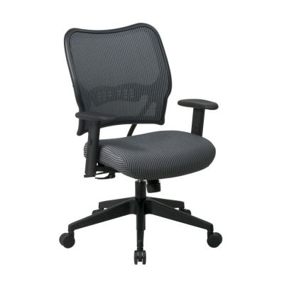 Deluxe Chair with Charcoal Back and Fabric Seat - 13-V44N1WA