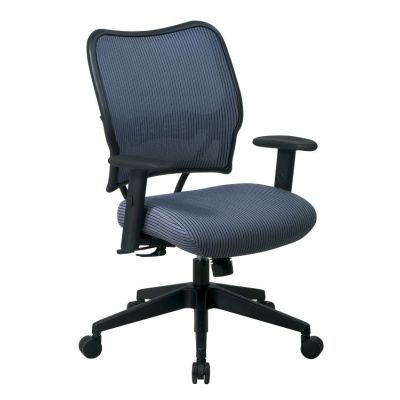 Deluxe Chair with Blue Mist Back and Fabric Seat - 13-V77N1WA
