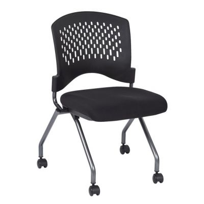 Deluxe Armless Folding Chair in Coal - 83220-30