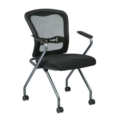 Deluxe Folding Chair with ProGrid Back in Coal - 84440-30
