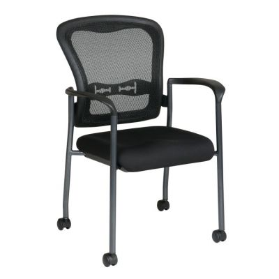 Titanium Visitors Chair with Arms in Coal - 84540-30