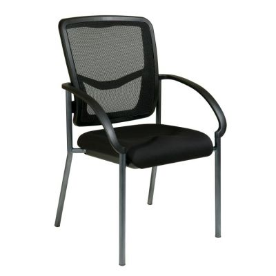 ProGrid Back Visitors Chair with Arms in Coal - 85670-30
