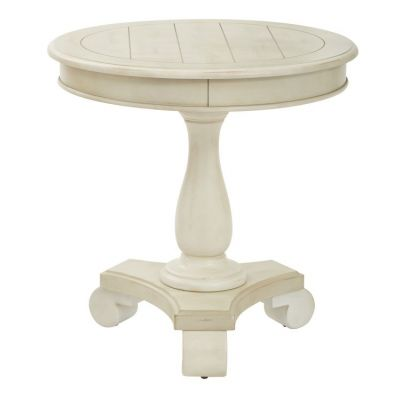 Avalon Round Accent table in Antique Beige - BP-AVLAT-YCM2