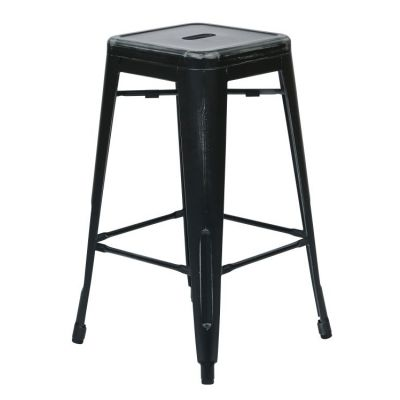 Bristow 26'' Metal Barstools in Antique Black - BRW3026A2-AB
