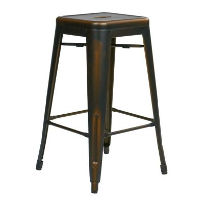 Bristow 26'' Metal Barstools in Antique Copper - BRW3026A2-AC