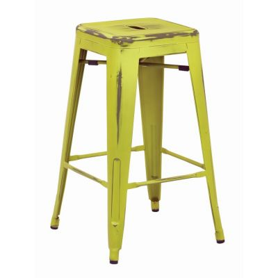 Bristow 26'' Metal Barstools in Antique Lime - BRW3026A2-AL
