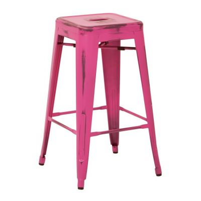 Bristow 26'' Metal Barstools in Antique Pink - BRW3026A2-AP