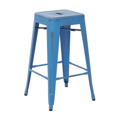 Bristow 26'' Metal Barstools in Antique Royal Blue - BRW3026A2-ARB