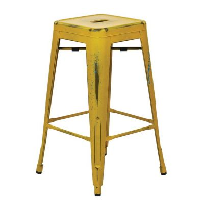 Bristow 26'' Metal Barstools in Yellow with Blue Specks - BRW3026A2-AY