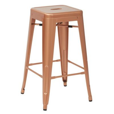 Bristow 26'' Metal Barstools in Copper - BRW3026A2-CP