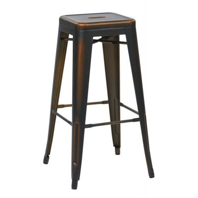 Bristow 30'' Metal Barstool in Antique Copper - BRW3030A2-AC