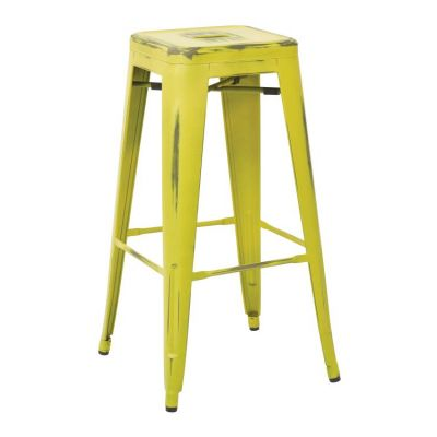 Bristow 30'' Metal Barstool in Antique Lime - BRW3030A2-AL