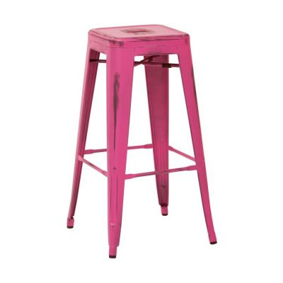 Bristow 30'' Metal Barstool in Antique Pink - BRW3030A2-AP