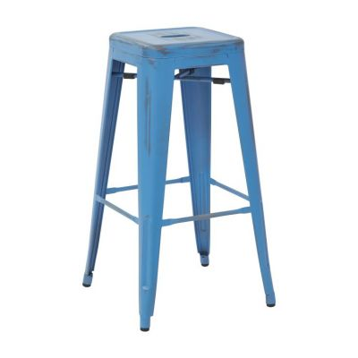 Bristow 30'' Metal Barstool in Antique Royal Blue - BRW3030A2-ARB