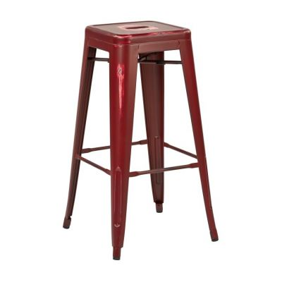 Bristow 30'' Metal Barstool in Antique Red - BRW3030A2-ARD