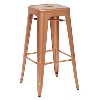 Bristow 30'' Metal Barstool in Copper - BRW3030A2-CP
