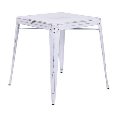 Bristow Metal Table in Antique White - BRW432-AW