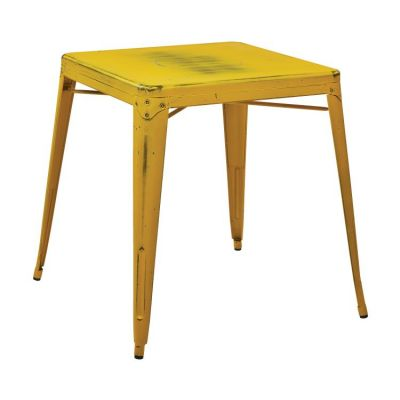 Bristow Metal Table in Antique Yellow with Blue Specks - BRW432-AY