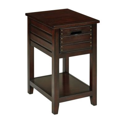 Camille Side Table in Walnut - CML08AS-WA