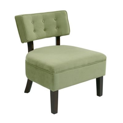 Curves Button Accent Chair in Spring Green - CVS263-G28