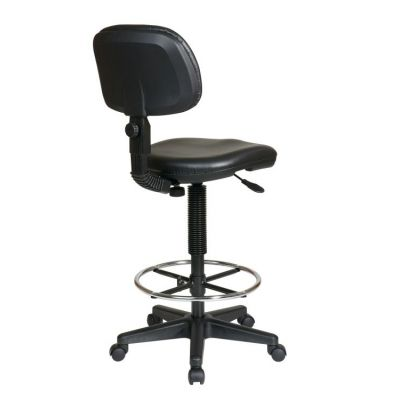 Sculptured Seat and Back Vinyl Drafting Chair in Black - DC517V