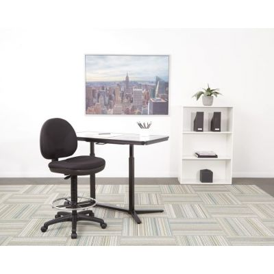 Sculptured Seat and Back Drafting Chair in Black - DC550-231