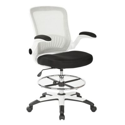 Mesh Back Drafting Chair in Black - DC6900WH-3M