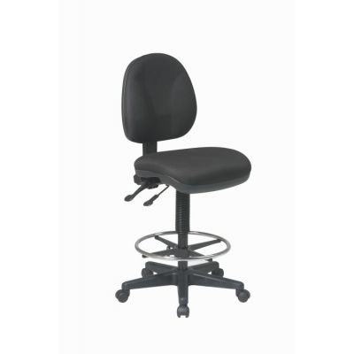 Deluxe Ergonomic Drafting Chair in Black - DC940-231