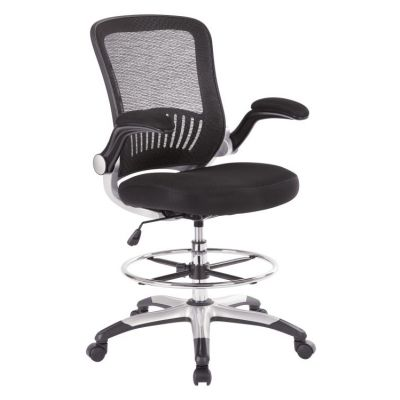 Mesh Back Drafting Chair in Black - DCY69006-3M