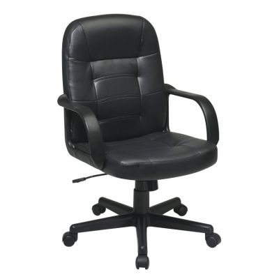 Bonded Leather Executive Chair in Black - EC3393-EC3